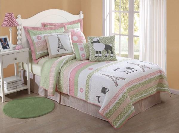 Girls Paris Bedroom Bedding Sets