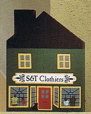 S & T Clothiers Shop-Cats Meow Village