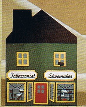 Tobacconist/Shoemaker Shop-Cats Meow Village