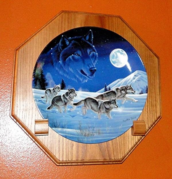 Wood Wall Plate Holders