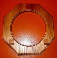 Brown Oak Wood Plate Frame Holder New Wall Hanging | eBay