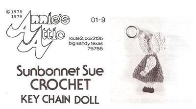 Sunbonnet Sue Key Chain Annie's Out of Print Crochet