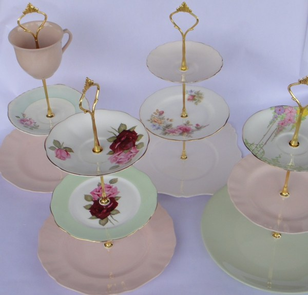 Make 3 Tier Vintage Wedding Cake Plate Tiered Stand