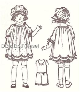 ANTIQUE CLOTHES DOLL PATTERN « FREE Knitting PATTERNS