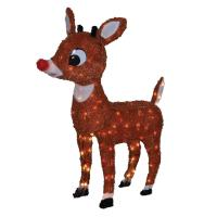 RUDOLPH THE RED NOSED REINDEER & FRIENDS Tinsel Outdoor ...