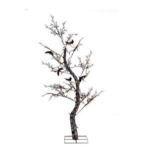 FLYING BATS LIGHTED PRELIT 5 FOOT HALLOWEEN SPOOKY TREE