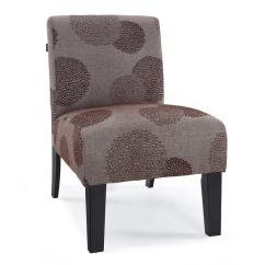 Contemporary Accent Chair Mid Century Upholstery Fabric Modern Armless Upholstered Floral