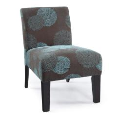 Floral Upholstered Chair Vinyl Covers For Recliners Modern Contemporary Armless Accent