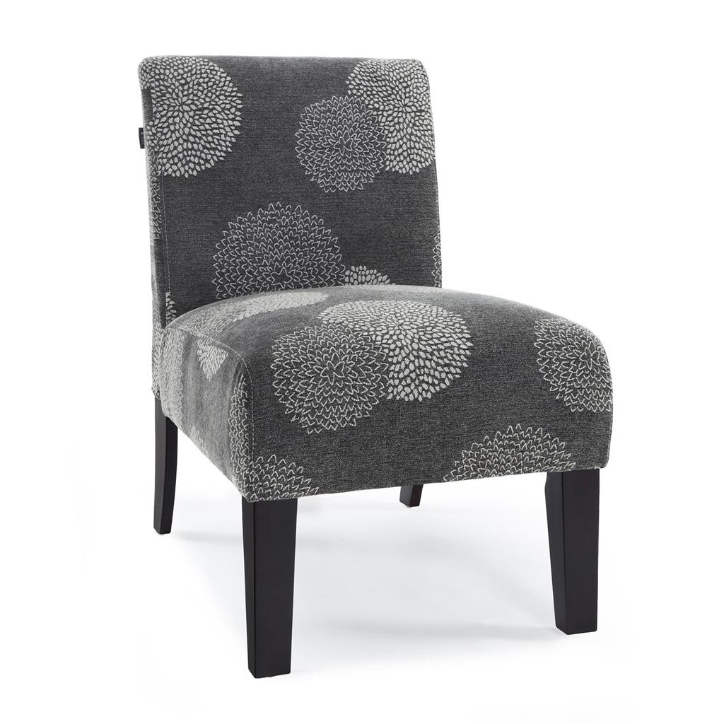 Armless Accent Chairs Modern Contemporary Armless Upholstered Floral Accent