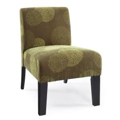 Contemporary Accent Chair Parsons Chairs Modern Armless Upholstered Floral