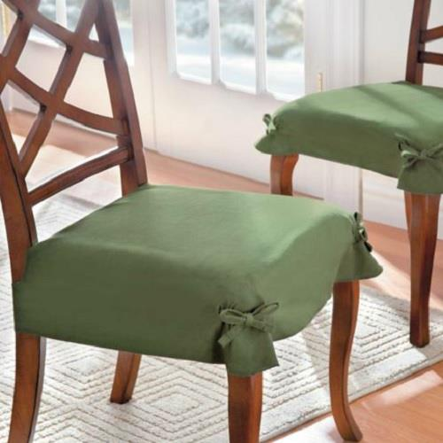 chair seat covers bed bath and beyond wedding cover hire preston set of 2 adjustable microsuede dining slipcover table linens | ebay