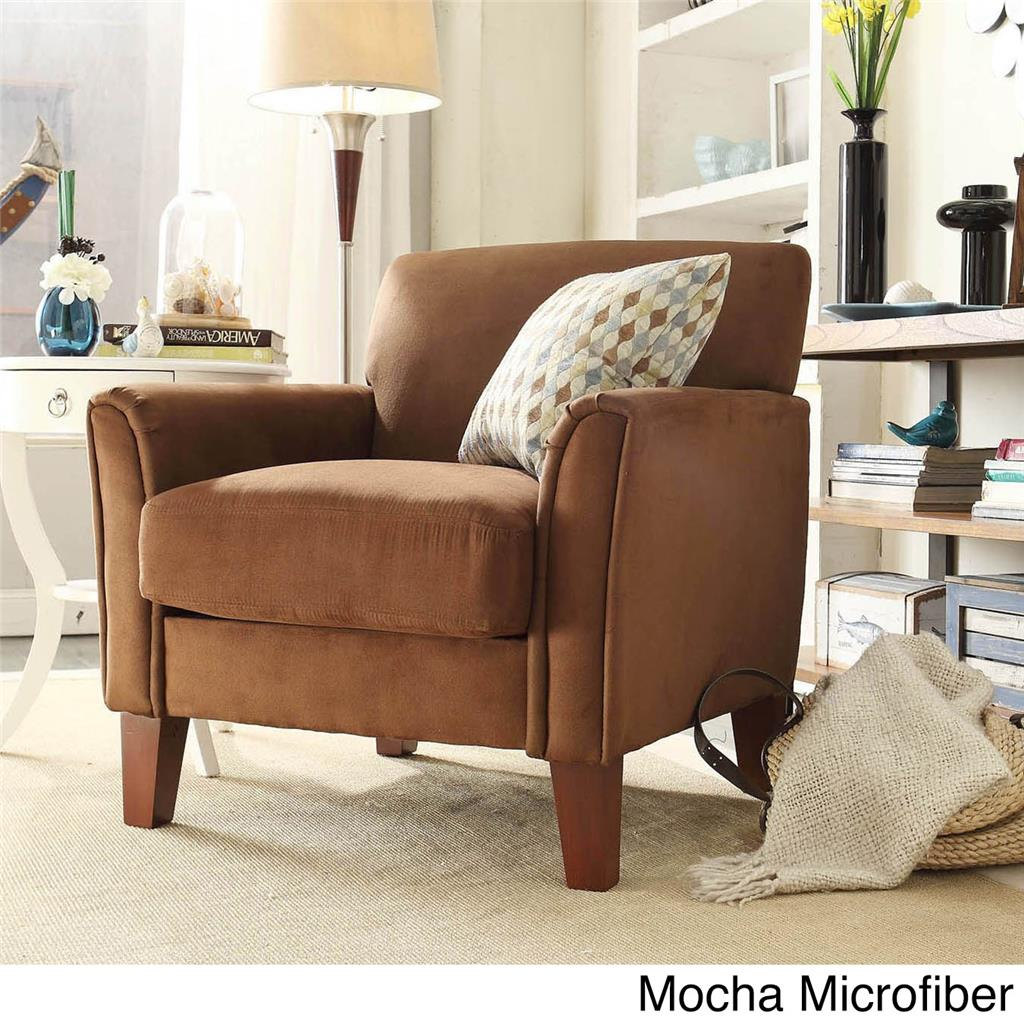 MODERN LIVING CONTEMPORARY COMFY UPHOLSTERED ARM CHAIR