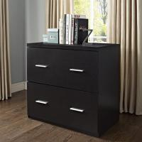 2 Drawer Durable Espresso Lateral File Filing Cabinet