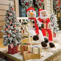Stuffable Lighted Santa Claus or Snowman Decoration ...