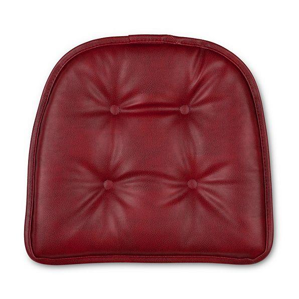 faux leather gripper chair cushions scandinavian kneeling set of 2 16x15 tufted kitchen pads non slip | ebay
