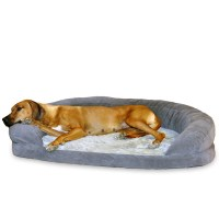 K & H Pet Products GRAY Orthopedic Bolster Sleeper Dog Bed ...