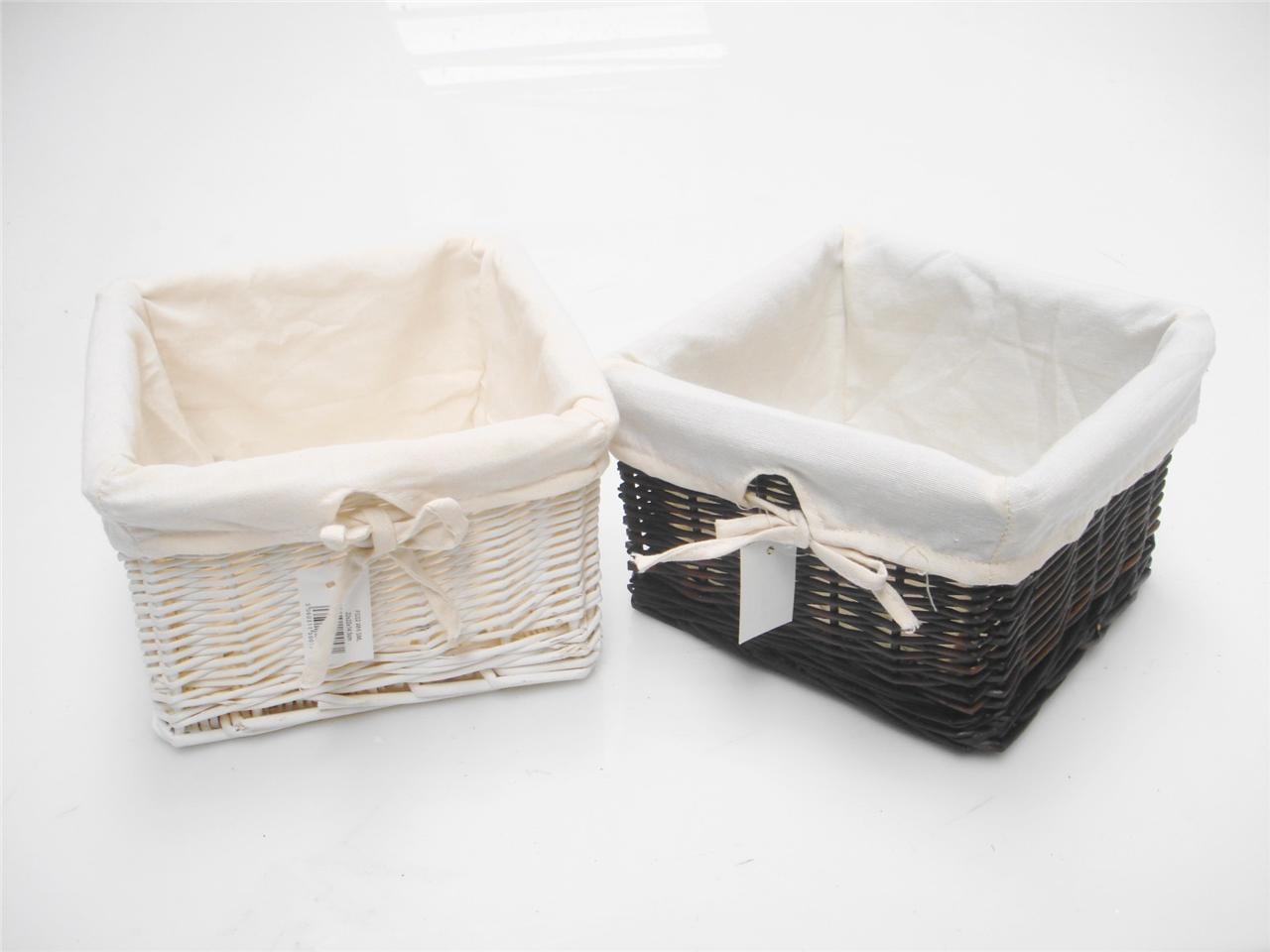 Small Wicker Hamper Brown Or White Small Wicker Storage Kitchen Bedroom Office