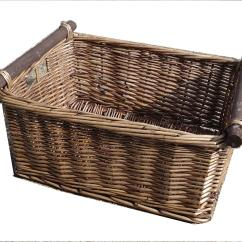 Kitchen Basket Storage White Set Log Decorative Full Wicker Xmas