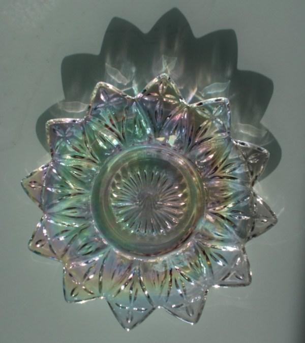 Vintage Carnival Glass Plates X 3 Beautifully Cut Amazing