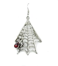 Gothic Spiderweb Spider Earrings Jewelry Punk Emo ...