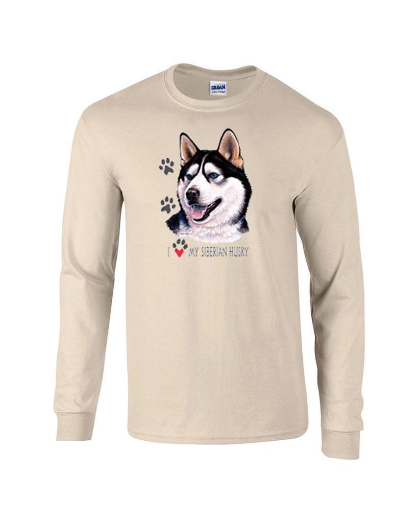 I Love My Siberian Husky Long Sleeve Dog T