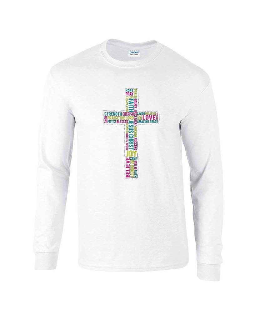 Religious Christian Word Cross Faith Jesus Christ Long Sleeve TShirt  eBay
