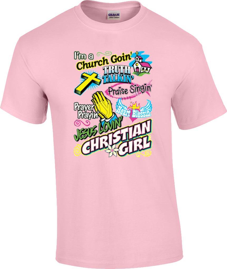 Christian Neon Church Goin Jesus Lovin Prayin Girl Religious TShirt  eBay