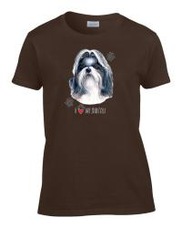 Ladies I Love My Shih Tzu Puppy Dog Women's T-Shirt Tee | eBay