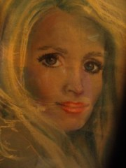 vintage art pastel drawing young