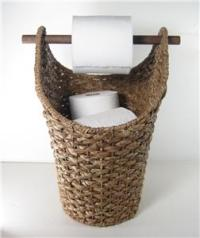 Braided Rope Basket Toilet Paper Holder Rustic Country ...