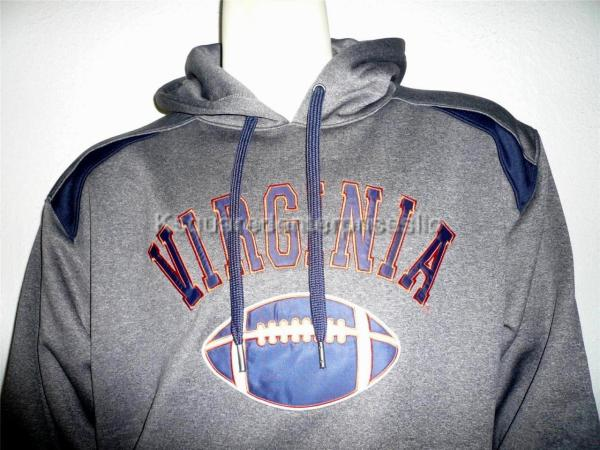University Of Virginia Athletic Stitched Hoodie Hooded