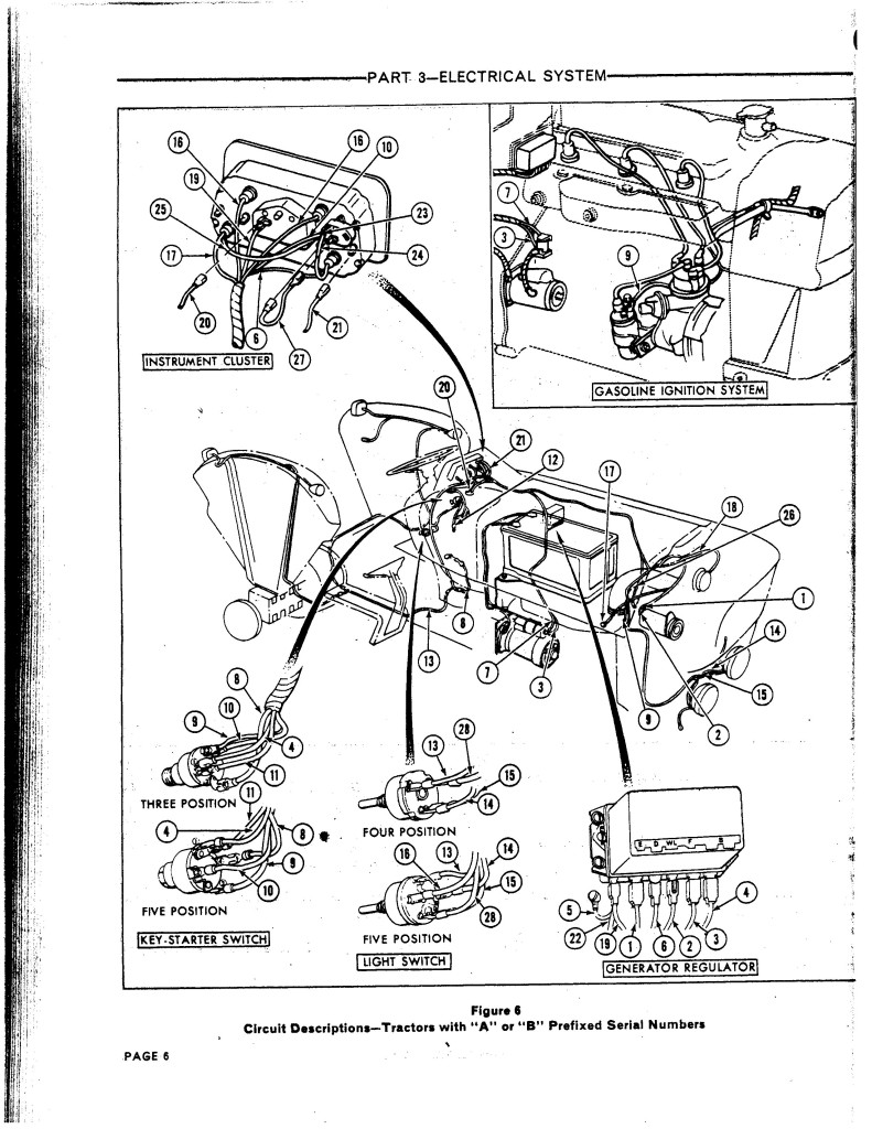 1965 ford 4000 gas tractor wiring diagram