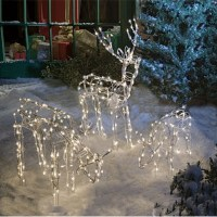 Animated Lighted Reindeer Family Set 3 Christmas Yard ...