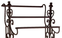 Elegant Vintage Style Narrow Wrought Iron Quilt Rack Towel ...