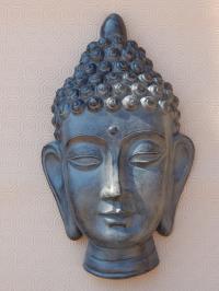 LARGE 40cm GREY or BRONZE DECORATIVE HANGING THAI BUDDHA ...