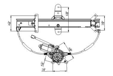 NEW REAR LEFT WINDOW REGULATOR 92-11 MERCURY GRAND MARQUIS