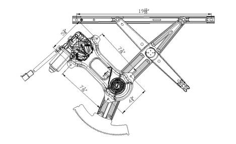 NEW FRONT RIGHT WINDOW REGULATOR 94-04 FORD MUSTANG