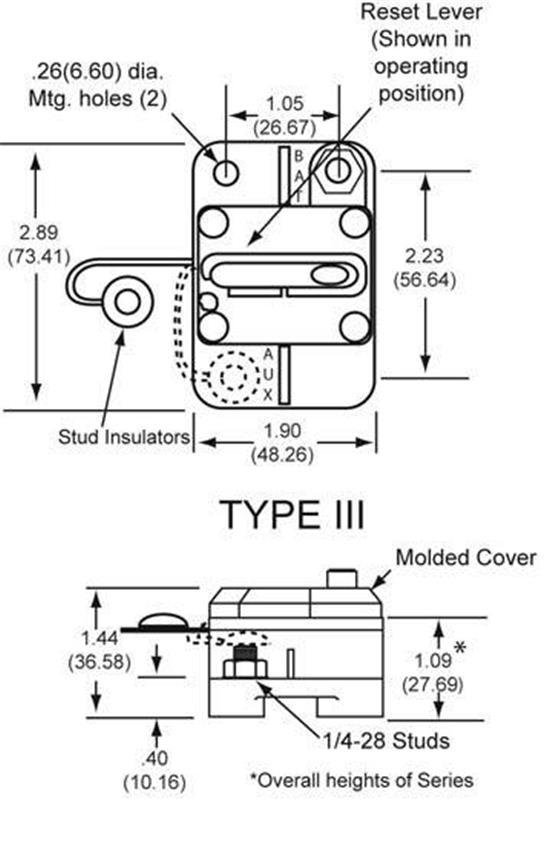 NEW OEM COOPER BUSSMAN CIRCUIT BREAKER 6-48VDC 100 AMP