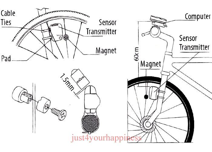 Neu Fahrradcomputer Funk Fahrradtacho Computer Tachometer