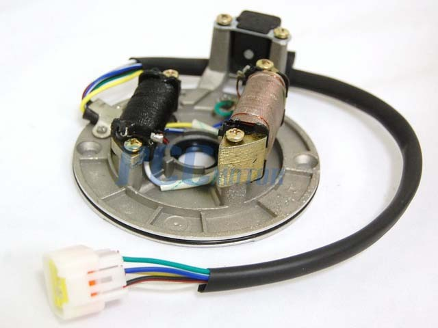 110cc Engine Wiring Diagram Electric Motorcycle Ignition Stator Magneto Plate 125cc Pit Bike Is10