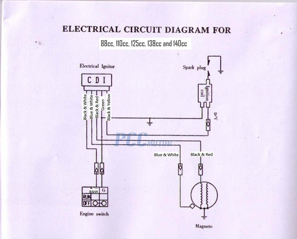 49cc Chinese Scooter Wiring Diagram  Somurich