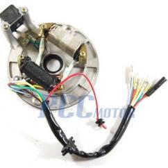 Pit Bike Wiring Diagram Electric Start Stop Ignition Stator+flywheel For Lifan 90 110 125 138 140cc Ssr Sdg Zongshen Is01+
