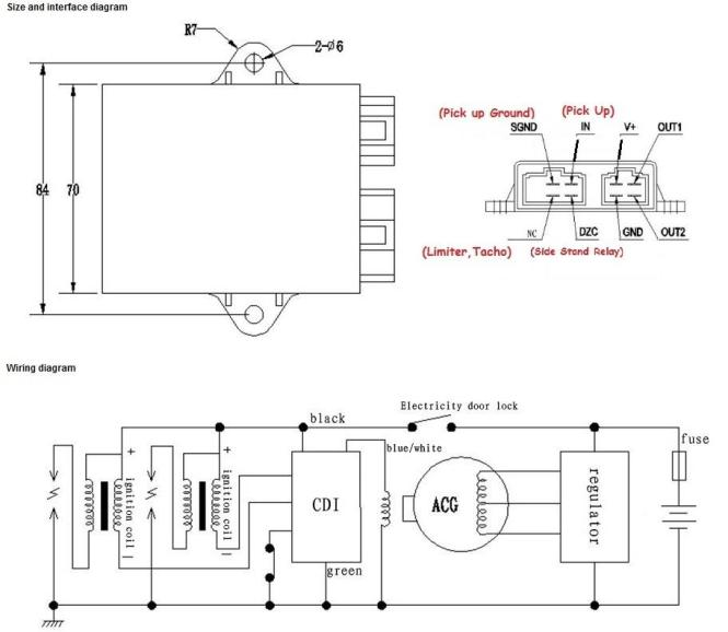6 pin cdi wiring diagram atv 250cc