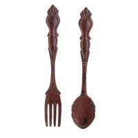 Spoon and Fork Utensil Print Wall Art S/2 332989 NEW RAZ