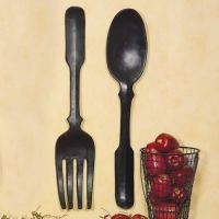shelley b decor and more: Large Black Spoon and Fork Wall Art