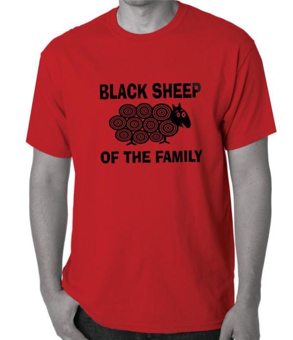 Black Sheep Of Family Size T Shirts Singlets Men'