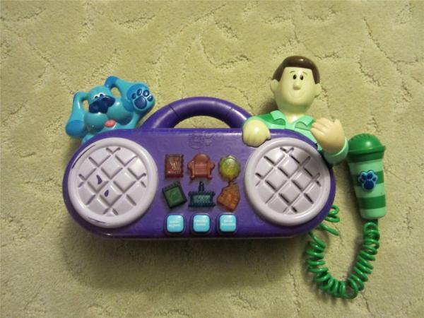 Rare Blues Clues Mattel 1999 Sing Long Radio Boom Box