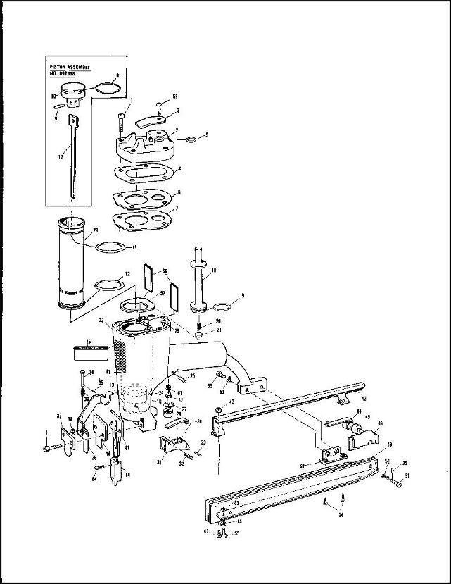 Paslode 212-F MU212F Finish Nailer O ring Rebuild Kit