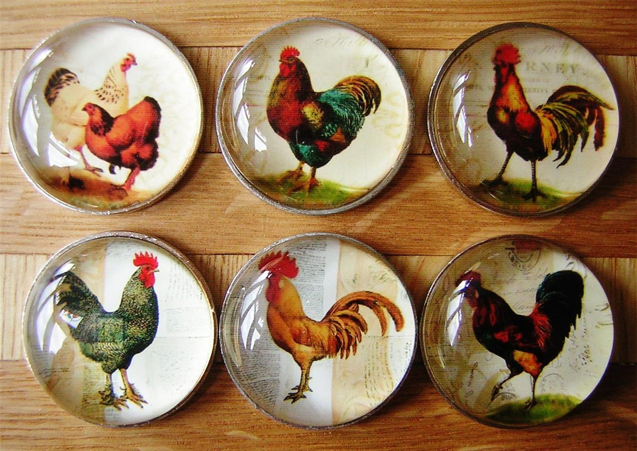 country kitchen door knobs kidkraft toy chicken cockerel hen bird drawer pulls handles