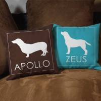 Personalized Dog Breed Throw Pillow Dog Lover Couch Pillow ...